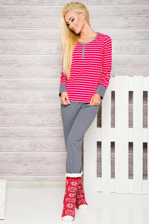 Női pizsama Lisa 2120 red  e83daef8d9