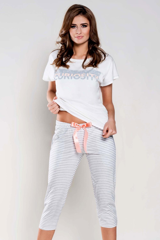 Női pizsama Wiktoria ecru  21526b2fe1