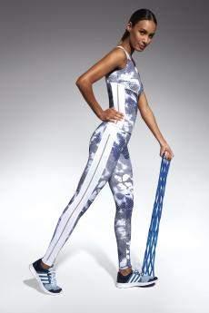 Női sportos leggings Code white-blue