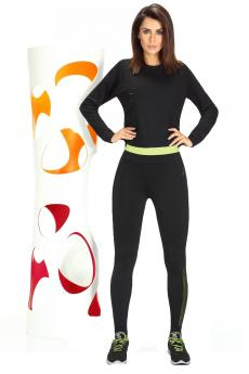 Női sportos leggings Inspire black-green