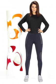 Női sportos leggings Passion blue