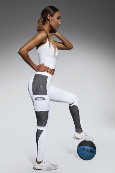 Női sportos leggings Passion white